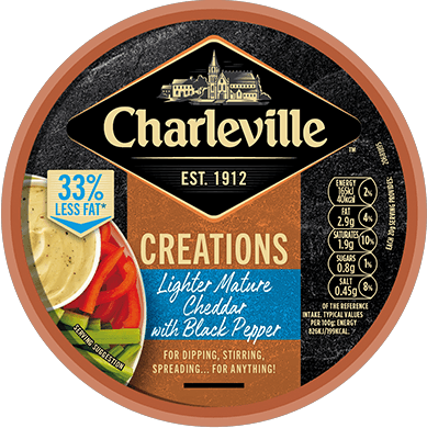 Creations lighter Mature Cheddar With Black Pepper